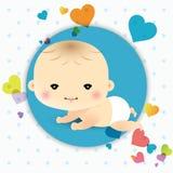 Scheda di annuncio del neonato Immagine Stock Libera da Diritti