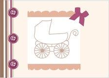 Scheda di annuncio di arrivo del bambino Fotografia Stock Libera da Diritti