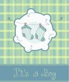 Scheda di annuncio di arrivo del neonato Fotografia Stock