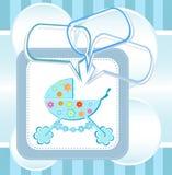 Scheda di annuncio di arrivo del neonato Fotografie Stock Libere da Diritti