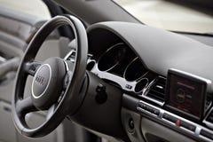 Scheda di Audi A8 Fotografia Stock
