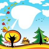 Scheda di autunno illustrazione vettoriale