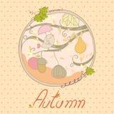 Scheda di autunno Immagini Stock