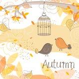 Scheda di autunno, vettore Fotografia Stock