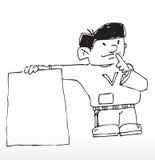 Scheda di avviso del fumetto illustrazione vettoriale