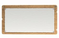 Scheda di avviso di legno Fotografia Stock