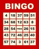 Scheda di Bingo Immagine Stock Libera da Diritti