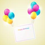 Scheda di buon compleanno Fotografie Stock Libere da Diritti