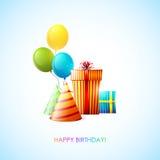 Scheda di buon compleanno Fotografie Stock