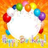 Scheda di buon compleanno Fotografia Stock Libera da Diritti