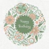 Scheda di buon compleanno Fotografia Stock