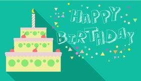 Scheda di buon compleanno Immagini Stock