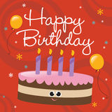 Scheda di buon compleanno illustrazione vettoriale