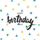Scheda di buon compleanno Tipografia per il manifesto, l'invito, la cartolina d'auguri o la maglietta Fotografia Stock