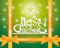 Scheda di Buon Natale Fotografia Stock