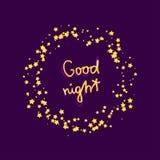 Scheda di buona notte Immagine Stock Libera da Diritti