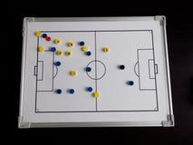 Scheda di calcio di gioco del calcio Fotografia Stock