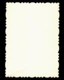 Scheda di carta con i bei bordi dell'annata Fotografia Stock