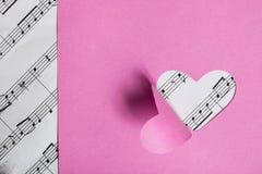 Scheda di carta del biglietto di S. Valentino Fotografia Stock