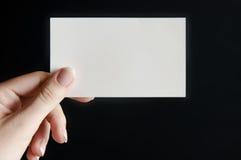 Scheda di carta a disposizione Fotografia Stock Libera da Diritti