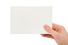 Scheda di carta a disposizione Fotografie Stock Libere da Diritti