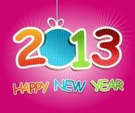 Scheda di celebrazione del `s di nuovo anno Immagini Stock