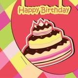 Scheda di celebrazione di compleanno Immagini Stock