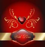 Scheda di celebrazione di giorno di biglietti di S. Valentino Fotografia Stock