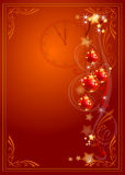 Scheda di celebrazione di nuovo anno Fotografia Stock