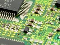 Scheda di chip a macroistruzione Immagine Stock Libera da Diritti
