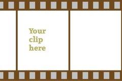 Scheda di clip dello stip della pellicola Immagini Stock Libere da Diritti