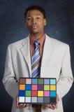 Scheda di colore fotografie stock libere da diritti