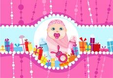 Scheda di compleanno Immagini Stock