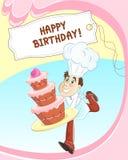 Scheda di compleanno royalty illustrazione gratis