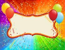 Scheda di compleanno immagine stock