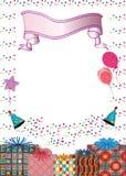 Scheda di compleanno Fotografia Stock