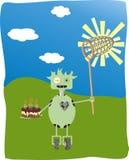 Scheda di compleanno Immagini Stock Libere da Diritti