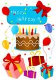 scheda di compleanno Fotografie Stock