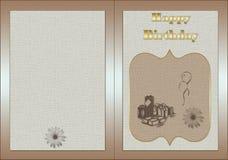 Scheda di compleanno illustrazione di stock