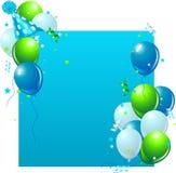 Scheda di compleanno blu Fotografia Stock Libera da Diritti