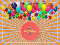 Scheda di compleanno Priorità bassa di buon compleanno Fotografia Stock