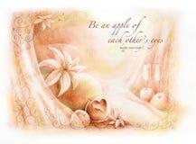 scheda di congratulazione delle coppie di cerimonia nuziale   Immagine Stock