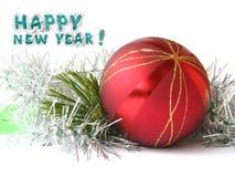 Scheda di congratulazione di nuovo anno Fotografia Stock Libera da Diritti