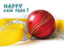Scheda di congratulazione di nuovo anno felice Immagine Stock Libera da Diritti