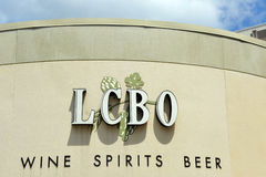Scheda di controllo del liquore del segno di Ontario Fotografie Stock Libere da Diritti