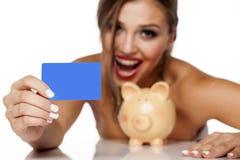 Scheda di credito in banca fotografia stock libera da diritti