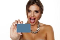Scheda di credito in banca immagine stock