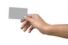 Scheda di credito in banca e della mano fotografie stock libere da diritti