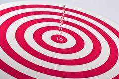 Scheda di dardo rossa dell'obiettivo Fotografia Stock Libera da Diritti