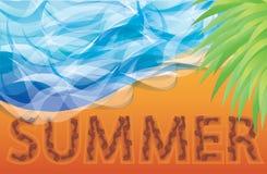 Scheda di estate Fotografie Stock